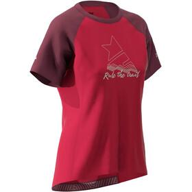 Zimtstern PureFlowz T-shirt Dames, jester red/windsor wine/fog green